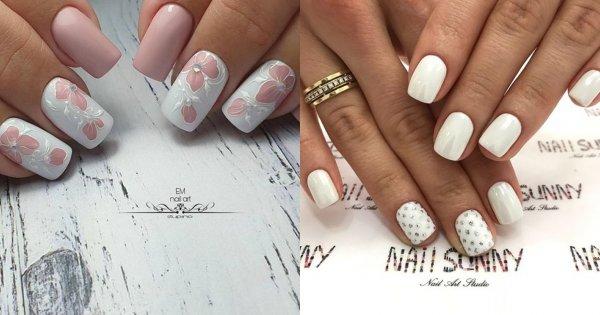 Jasne paznokcie - 22 inspiracje na biały i różowy manicure