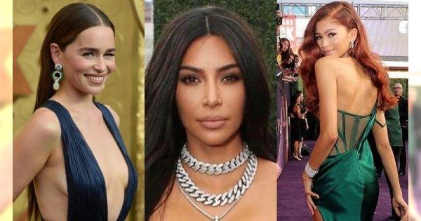 Emmy 2019: Zobacz najpiękniejsze kreacje gwiazd! Ale co to się stało z piersiami Kim Kardashian?