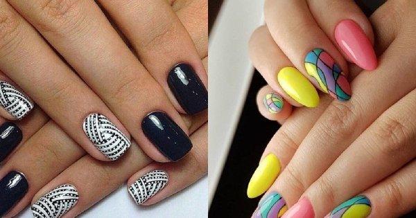 Najmodniejsze wzorki na paznokcie - manicure nie musi być nudny. [GALERIA]
