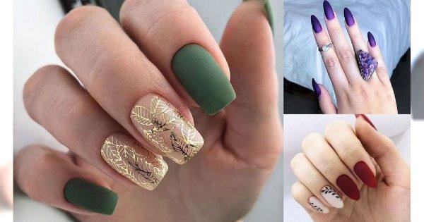 Matowy manicure 2019/2020 - galeria nietuzinkowych zdobień