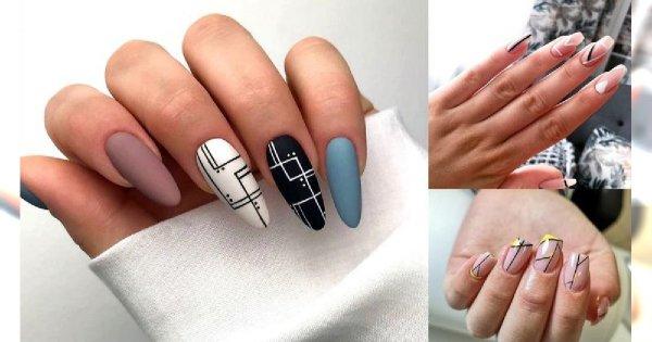 20 pomysłów na śliczny i szykowny manicure z dodatkiem geometrycznych zdobień! [galeria]
