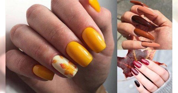 Manicure w jesiennych kolorach - galeria pięknych stylizacji