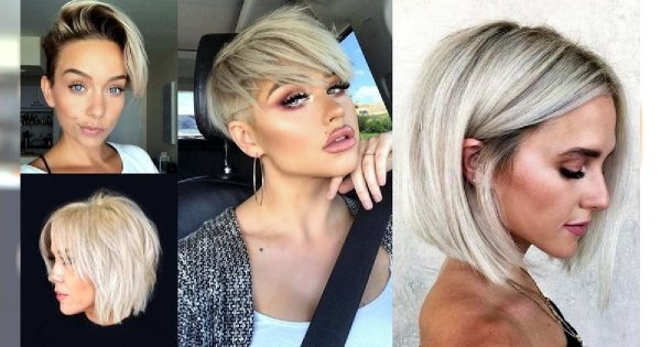 Krótkie i półkrótkie fryzury dla blondynek - 20 wyjątkowych cięć