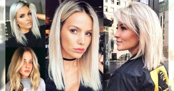 Półdługie fryzury dla blondynek - 20 pięknych i stylowych cięć