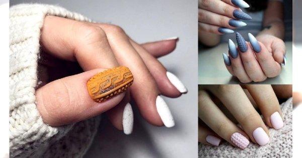 Sweterkowy manicure - galeria ślicznych i stylowych zdobień