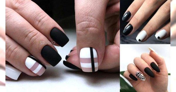 Czarno-biały manicure - galeria subtelnych zdobień