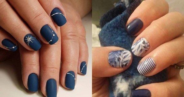 Granatowe paznokcie - 20 propozycji na elegancki manicure dla krótkich i długich paznokci