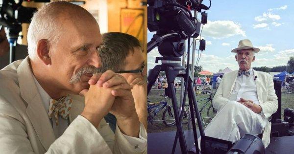 Janusz Korwin - Mikke pokazał zdjęcie sprzed 27 lat. On wciąż ubiera się tak samo. Hit czy kit?