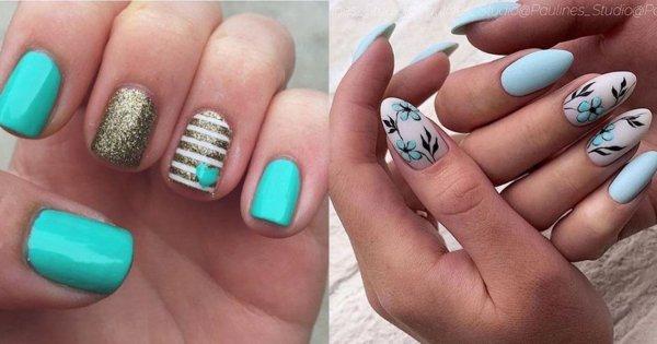 Niebieskie paznokcie - 25 inspiracji na niebieski manicure [GALERIA]