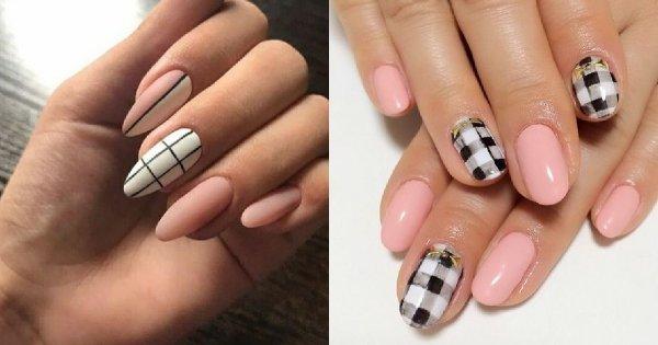 Paznokcie w kratkę - 20 propozycji na kraciasty manicure