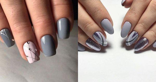Szare paznokcie - 25 propozycji na szary manicure [GALERIA]