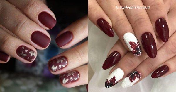 Bordowe paznokcie - 25 pomysłów na bordowy manicure