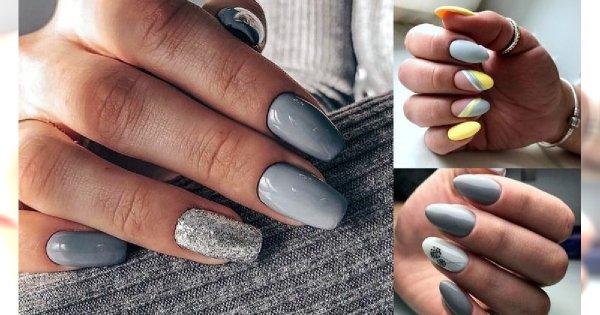 Szary manicure w najbardziej stylowych odsłonach - te stylizacje to HIT!