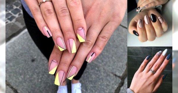 Geometryczny manicure - 16 pięknych i stylowych propozycji