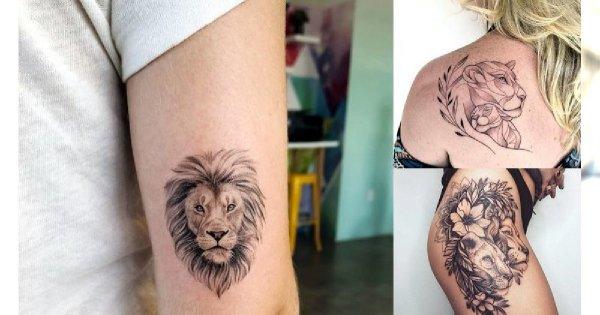 Tatuaże z motywem lwa - galeria przepięknych wzorów dla kobiet