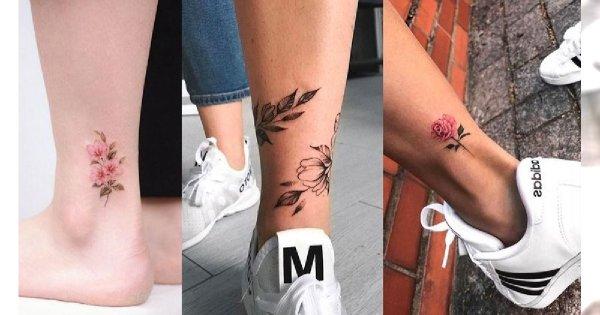 Tatuaż w okolicy kostki - 25 najpiękniejszych wzorów dla dziewczyn