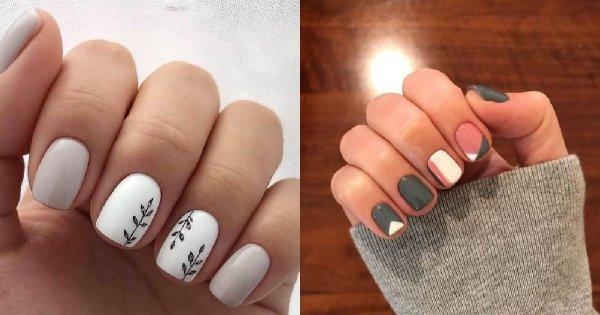 Krótkie paznokcie - prawie 30 inspiracji na manicure dla krótkich paznokci [GALERIA]