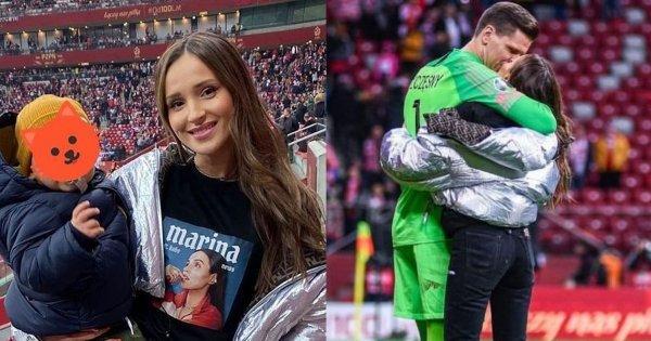 Marina Łuczenko pierwszy raz z Liamem na stadionie! Szczęsny z synkiem to najsłodsze, co dziś zobaczycie!