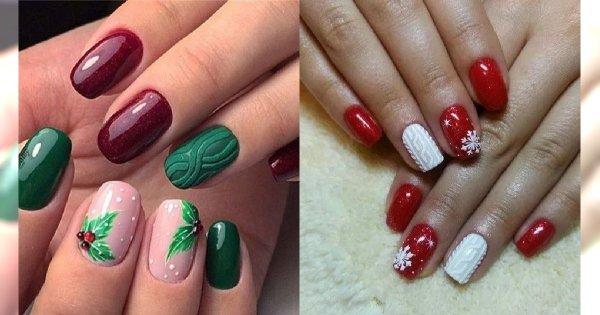 Manicure na  Święta - 21 propozycji na świąteczny manicure [GALERIA]