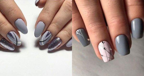 Szary manicure - 19 propozycji na szare stylizacje [GALERIA]
