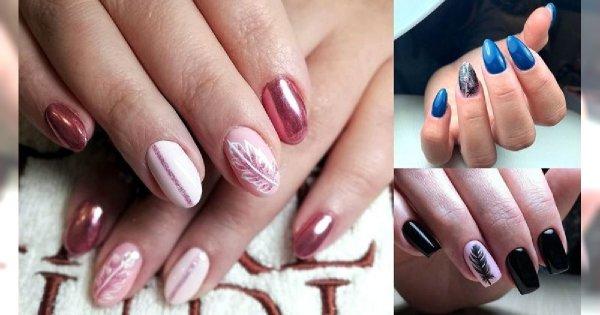 Manicure z piórkiem - 21 oryginalnych i ślicznych zdobień