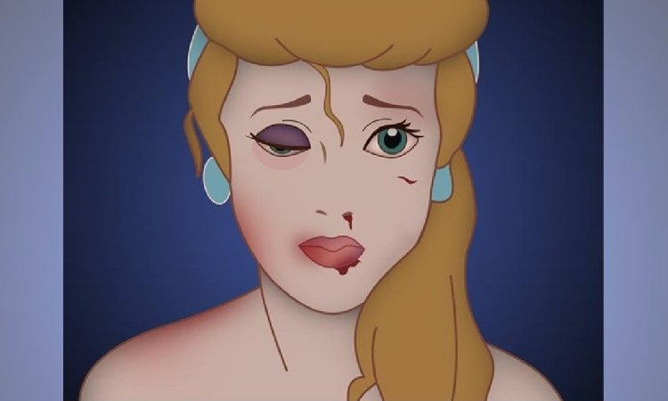 Kampania przeciwko przemocy domowej z księżniczkami Disneya