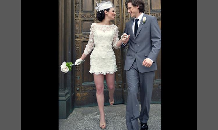 Na bok konwenanse - krótkie modele sukni ślubnych