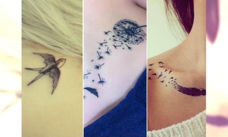 Dmuchawce Piórka Serduszka Super Dziewczęce Tatuaże Na Każdą