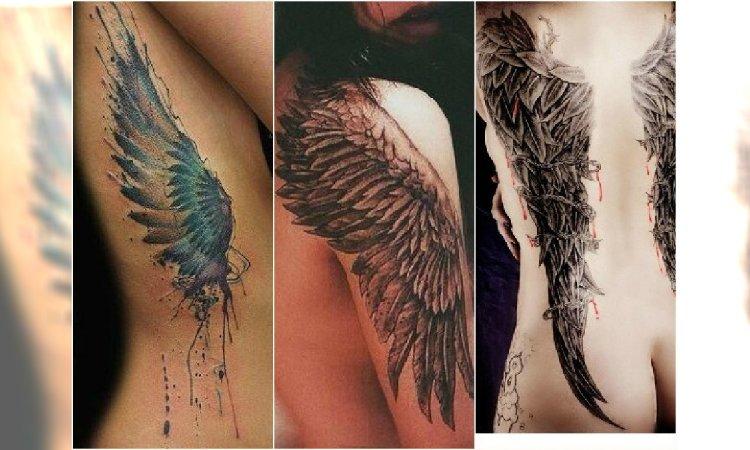 Tatuaż Skrzydła Ptaka I Anioła Wzory Na Plecy Ramiona
