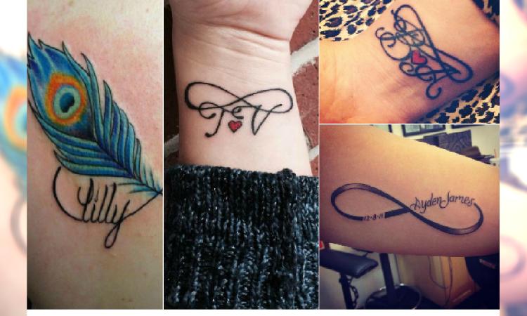 Tatuaż Symbol Nieskończoności Z Imieniem Lub Inicjałami