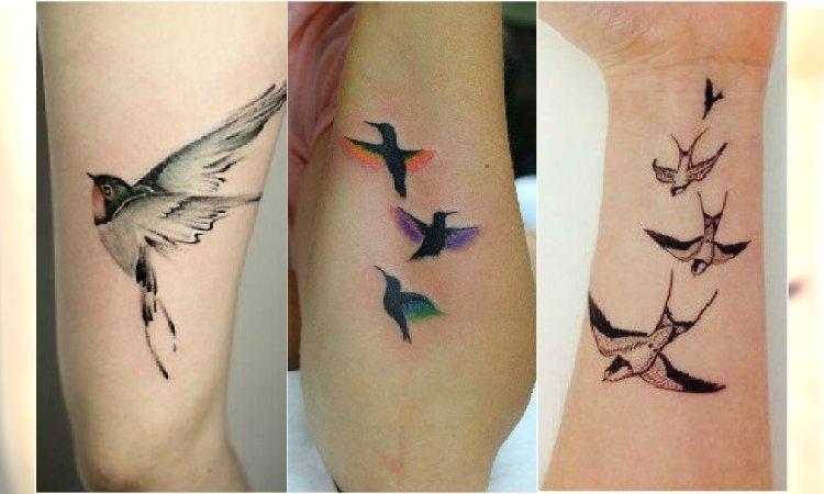 Tatuaż Ptaki Urocze Wzory Tatuażu Na Ręce Plecy I Nogi