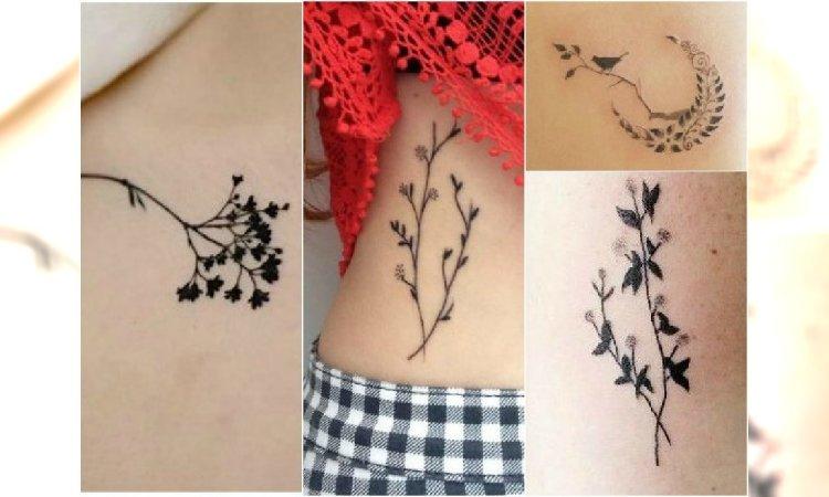 śliczne Tatuaże Z Motywem Roślinnym Wzory Dla Subtelnych Dziewczyn
