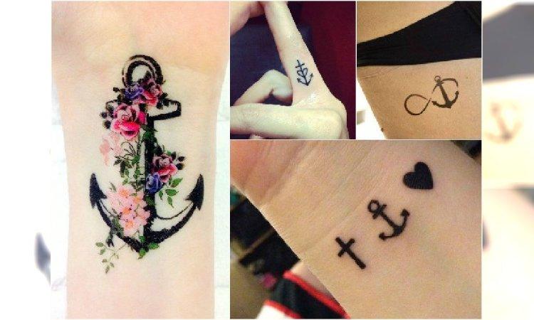 Mały Tatuaż Z Kotwicą Modne I Urocze Wzory Dla Dziewczyn Na Czasie