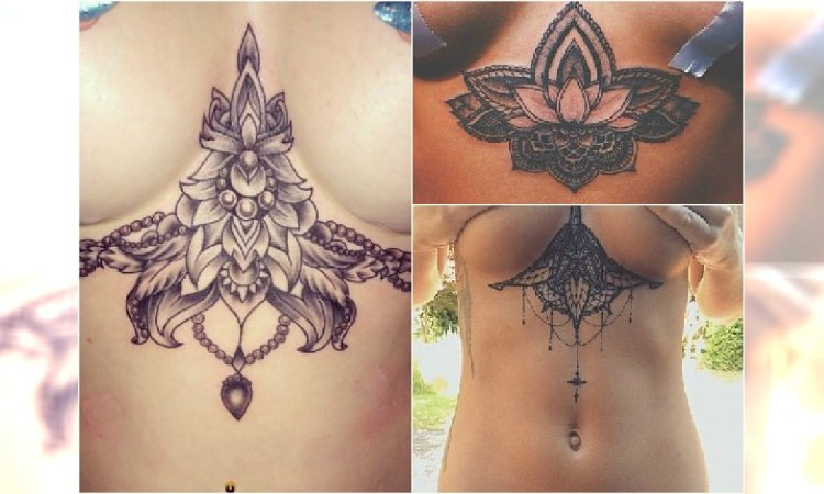 Tatuaż Pod Biustem świetne Wzory Z Waszych Galerii