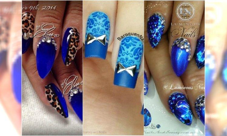 22d8efd9a205f1 Niebieskie paznokcie jak z bajki! 20 pomysłów na niezwykły manicure