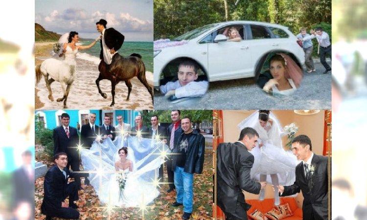 Najdziwniejsze ślubne sesje zdjęciowe: Te fotografie znalezione na Rosyjskich portalach społecznościowych wołają o pomstę do nieba!