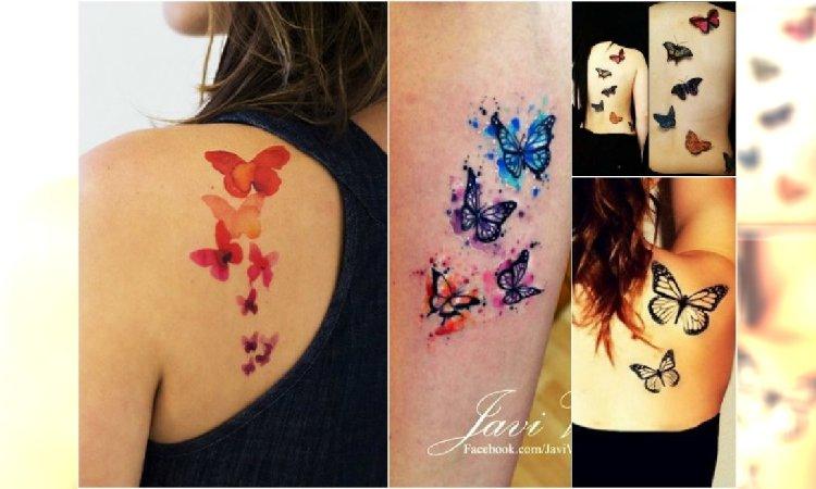 Tatuaż Motyle Najpiękniejsze Wzory Kolorowe Czarno Białe 3d