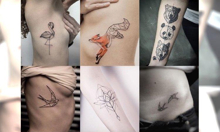 Geometryczne Tatuaże Galeria Kobiecych Wzorów Które