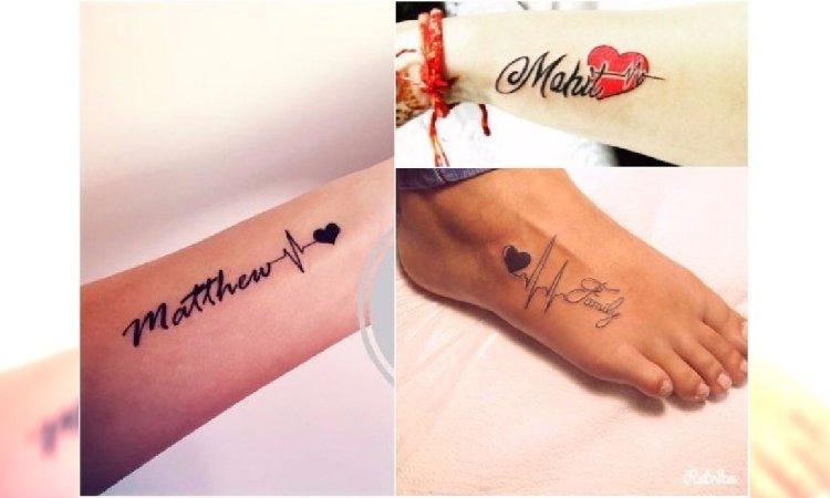 Tatuaż Heartbeat Dla Mamy Wzory Z Imieniem Sercem I