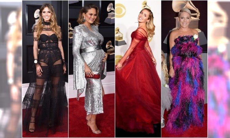 Najpiękniejsze kreacje gwiazd z GRAMMY 2018. Beyonce, Lady Gaga i Rita Ora wygrywają imprezę!