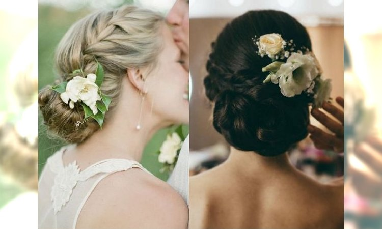 żywe Kwiaty We Włosach 18 Romantycznych Fryzur ślubnych
