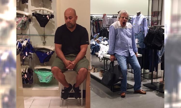 Zabawne zdjęcia mężczyzn podczas zakupów z ukochaną! Warto podpatrzeć, bo wyprzedaże zaczynają się tuż po świętach!