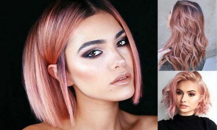 Rose gold - stylowa koloryzacja włosów na lato