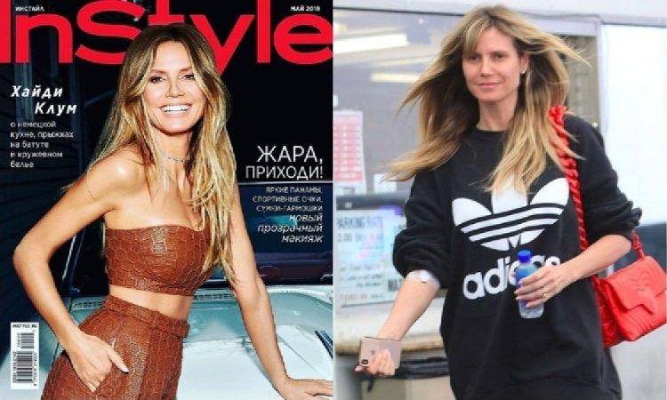 Heidi Klum na sportowo i bez makijażu poszła promować szczepienia. Komentarze internautów są BEZLITOSNE...