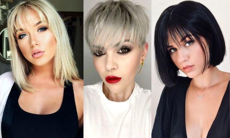 Krótkie i półkrótkie fryzury z grzywką - galeria trendów