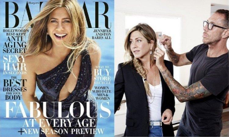 50-letnia Jennifer Aniston TOPLESS! Pozuje tylko w rajstopach, króciutkich szortach i szpilkach! WOW!