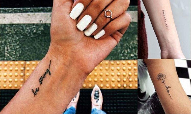 Tatuaże napisy - galeria najciekawszych wzorów dla dziewczyn