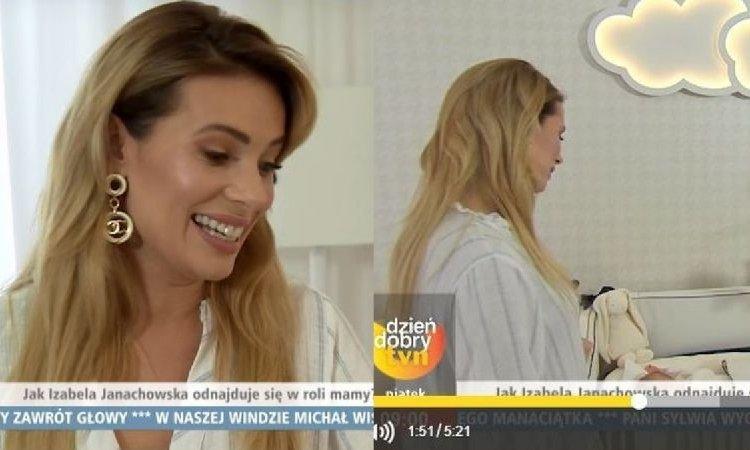 """Izabela Janachowska pokazała synka w """"DD TVN"""" i opowiedziała o porodzie! """"Nie zorientowałam się, że rodzę"""""""