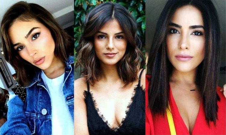18 stylowych fryzur dla brunetek i szatynek - włosy półdługie i półkrótkie