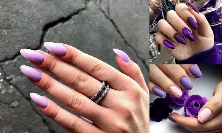 Fioletowy manicure - 18 fantastycznych stylizacji